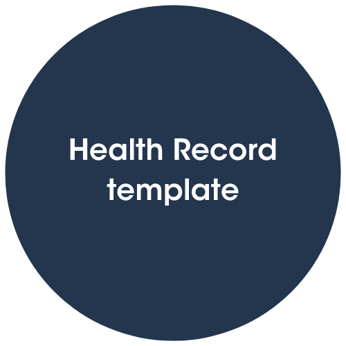 Click to view Health record template